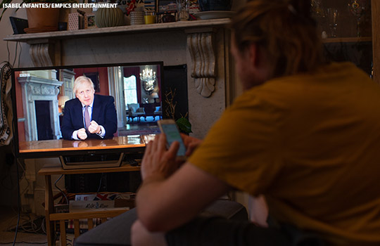 Boris Johnson in a TV address